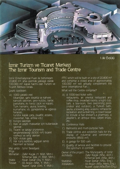 İzmir Tourism and Trade Center Design Award of İpek Homes Bodrum